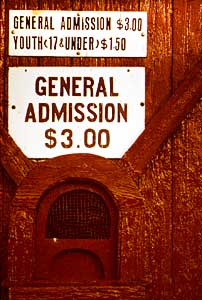 Taylor Field ticket window, 1984
